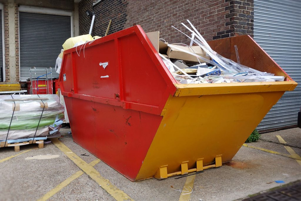 Image of general waste skip_waste collections_Cornwall waste solutions