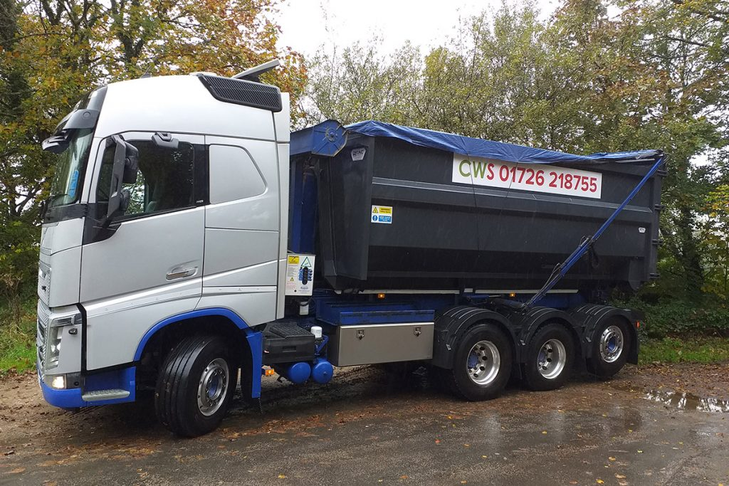 CWS_New truck with 30yd general waste container